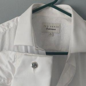Nwot Ted Baker Endurance white shirt W cufflinks